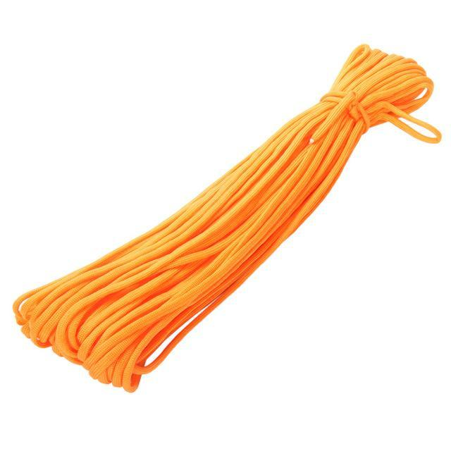 Mortal Survival Cordage Orange (5) 100FT 7 Core Stands Type III Paracord 550 Parachute Cord (Rope) for Survival Equipment