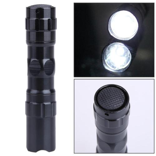 Mortal Survival Flashlight Flashlight Portable Mini Waterproof Bright LED Police Flashlight (Torch) - Use AA Batteries