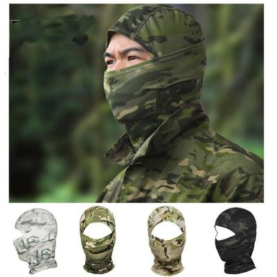 Mortal Survival Hat Camouflage Ninja Type Full Facemask Hood for Military or Tactical or Helmet Liner
