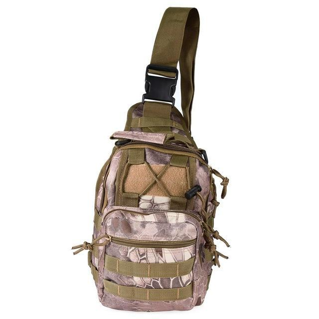 Mortal Survival & More!! Backpack 03 Rugged 600D Military Shoulder Bag for Camping, Hiking, Tactical Operations, Survival and More