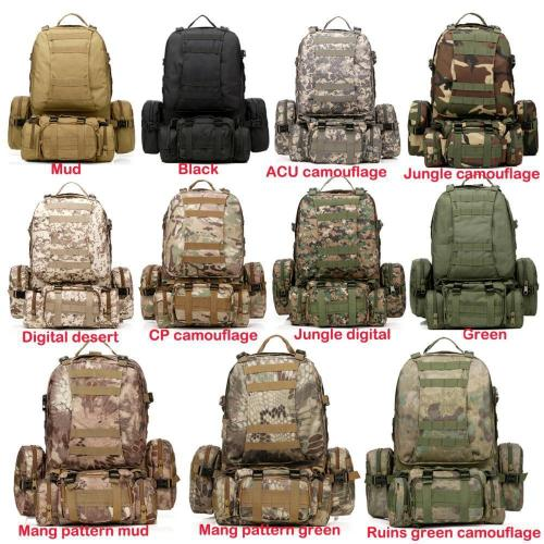 Mortal Survival & More!! Backpack 50L Molle Tactical Waterproof Assault Backpack for Military, Travel, Hiking, Survival and More