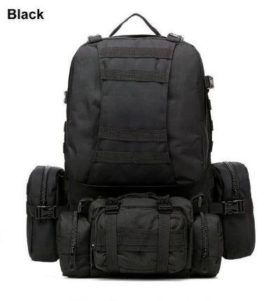 Mortal Survival & More!! Backpack Black / 50 - 70L 50L Molle Tactical Waterproof Assault Backpack for Military, Travel, Hiking, Survival and More