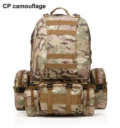 Mortal Survival & More!! Backpack CP camouflage / 50 - 70L 50L Molle Tactical Waterproof Assault Backpack for Military, Travel, Hiking, Survival and More