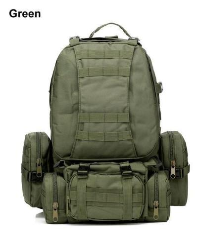 Mortal Survival & More!! Backpack Green / 50 - 70L 50L Molle Tactical Waterproof Assault Backpack for Military, Travel, Hiking, Survival and More