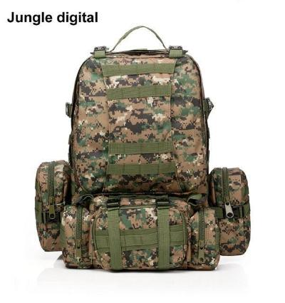 Mortal Survival & More!! Backpack Jungle digital / 50 - 70L 50L Molle Tactical Waterproof Assault Backpack for Military, Travel, Hiking, Survival and More
