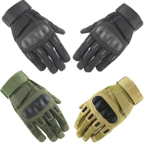 Mortal Survival & More!! Gloves Men's Police or Military Tactical Gloves WIth Impact Protective Hard Knuckles