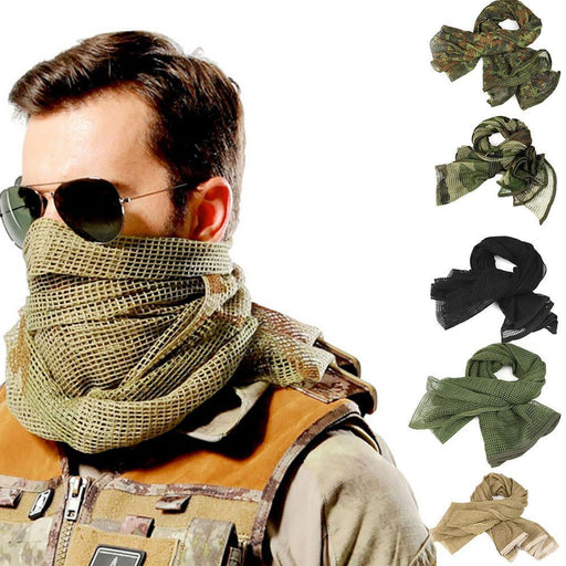 Mortal Survival Scarf Outdoor Military or Hiking Scarves - Arab Tactical Men's Desert Army Shawl, Scarf or Neck Wrap