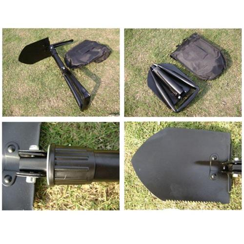 Mortal Survival Shovel High Quality Portable Carbon Steel (Metal) Army Military Folding Survival Shovel (Spade)