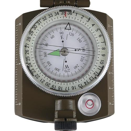 (NEW) Rugged Eyeskey Lensatic Compact Survival and Military Compass for Hiking, Camping and Outdoor Adventures