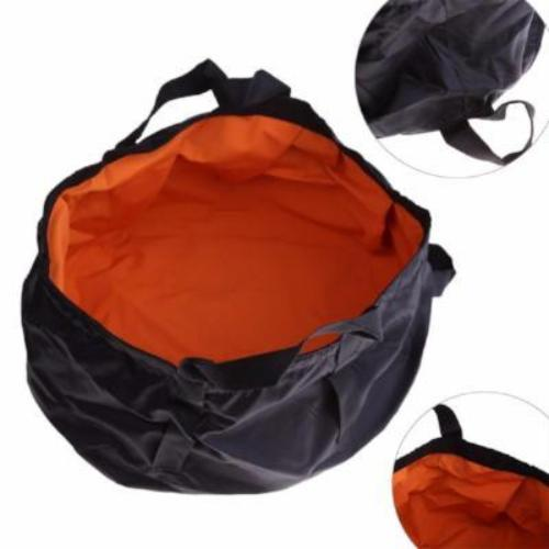 (NEW) Portable 2.24 Gallon (8.5L) Ultralight Outdoor Folding Washbasin, Fishing Bucket, Water Bag, Foot Bath for Camping Survival Kits