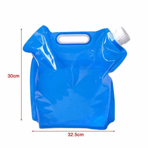 Portable Camping Hiking Survival 1.3 Gallon (5L) Folding Water Storage Bag