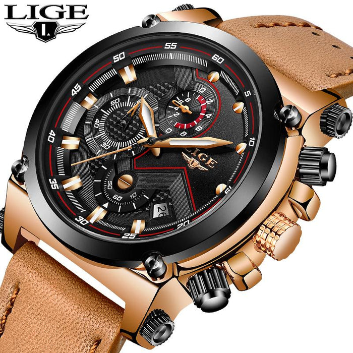Our Best-Selling Men's Multi-Function Quartz Watch with Leather Band