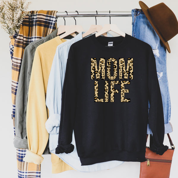 Leopard Mom Life Sweatshirt
