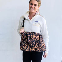 Puffer Messenger Bag - Leopard
