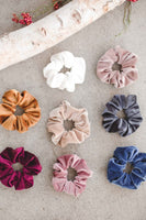 Fall Rib Velvet Scrunchies