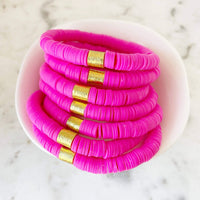 Hot Pink Color POP Bracelet