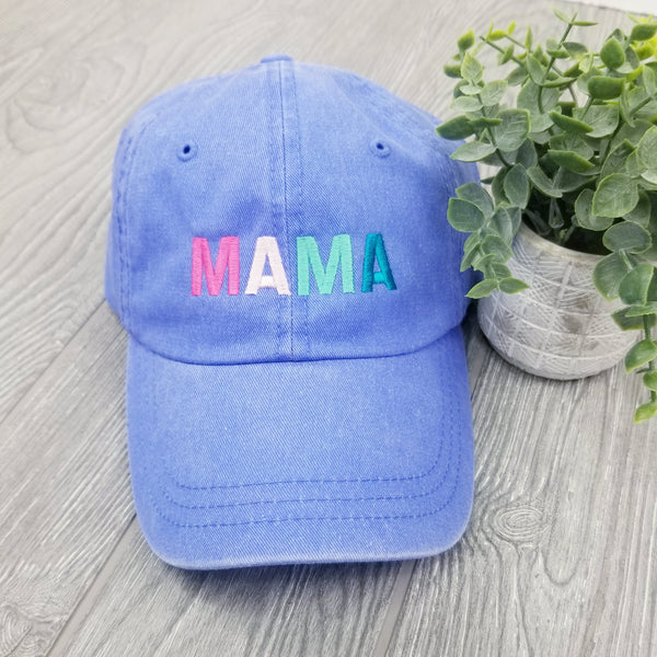 Colorful Mama Hat • Carolina Blue