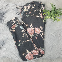 Floral Lounge Pants • Charcoal