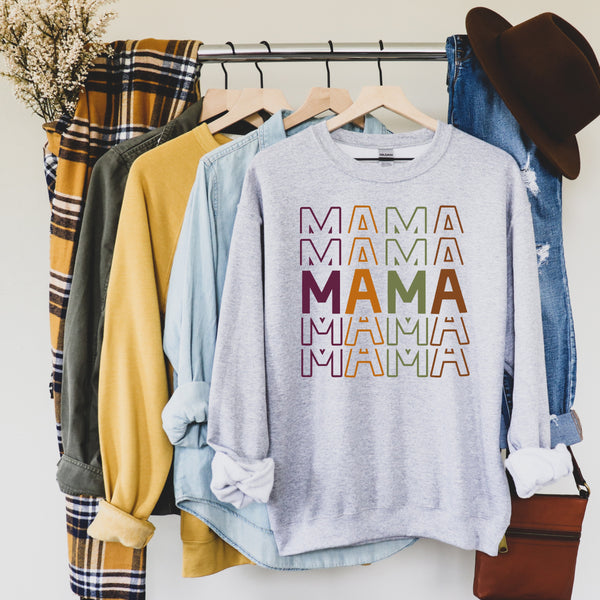 Fall Colorful Mama • Sweatshirt