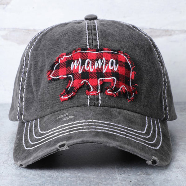 Plaid Mama Bear Hat