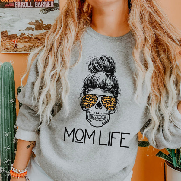 Skull Mom Life Sweatshirt