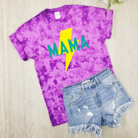 Mama Bolt • Purple Tie Dye Tee