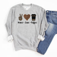 Peace Love and Coffee • Sweatshirt