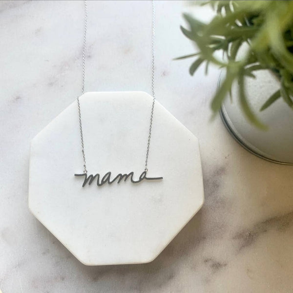 Mama Necklace Silver