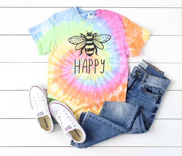 Bee Happy • Pastel Tie Dye