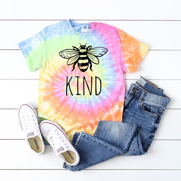 Bee Kind • Tie Dye Short Sleeve
