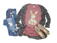 Floral Bunny Shirt • More Colors