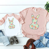 Floral Bunny Mommy and Me • Peach