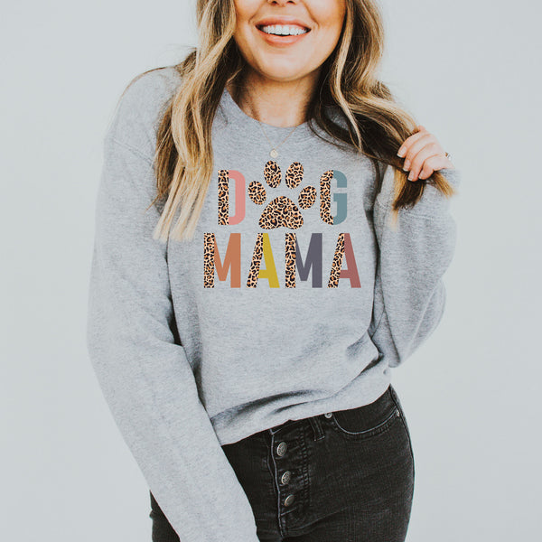 Dog Mama Colorful Leopard • Sweatshirt • More Colors