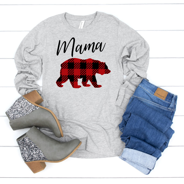 Plaid Mama Bear • Long Sleeve