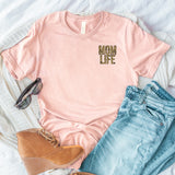 Leopard Mom Life Tee • Left Chest
