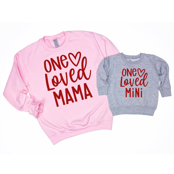 Loved Mama and Mini Sweatshirt Set