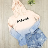 Mama Lightweight Ombre Pullover • V-Neck Peach and Blue