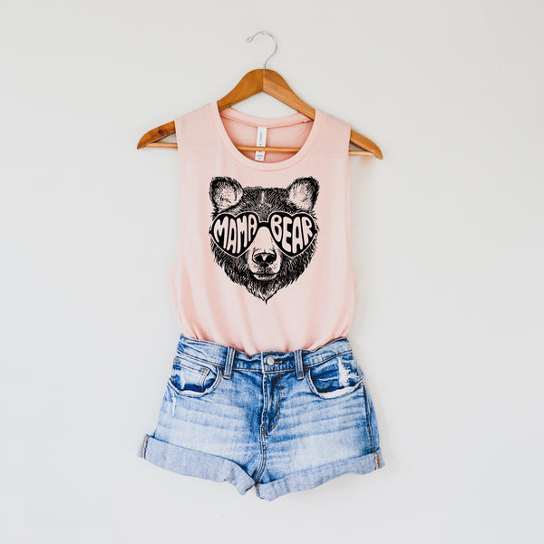 Mama Bear Sunglasses • Tank • More Colors