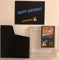 NES Birthday Greeting Cart - Gift Card Holder - clear/blue