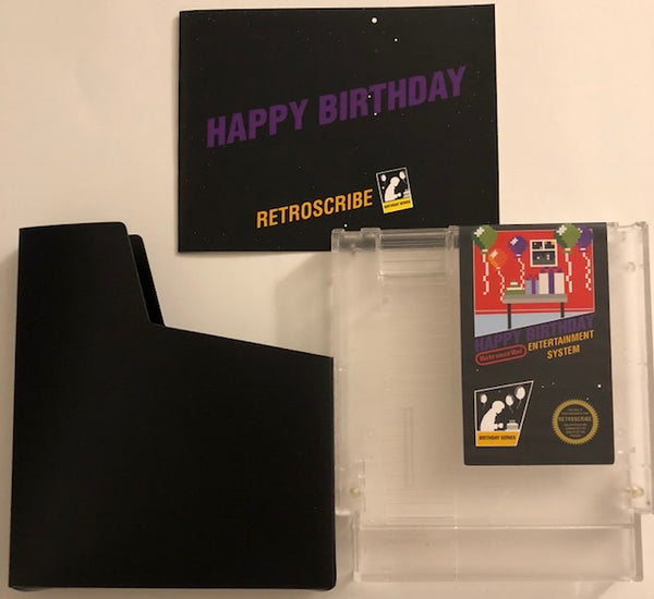 NES Birthday Greeting Cart - Gift Card Holder - clear/purple