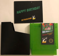 LIMITED NES Birthday Greeting Cart - Gift Card Holder - green
