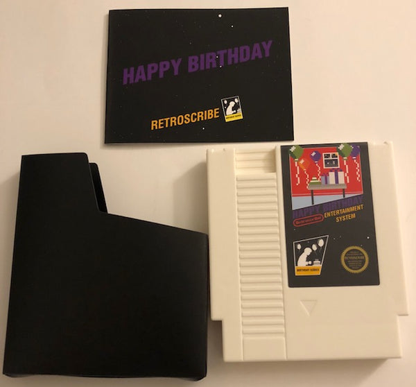 NES Birthday Greeting Cart - Gift Card Holder - white/purple
