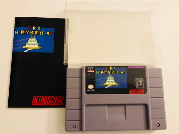 SNES Birthday Greeting Cart - Gift Card Holder - gray/blue