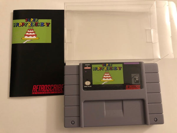 SNES Birthday Greeting Cart - Gift Card Holder - gray/green