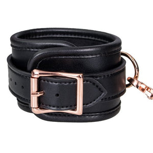 KOUDOU Beautifully Bound Black Faux Leather Under Bed Restraint