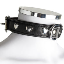 KOUDOU Lair Black Leather Studded Heart Collar