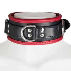 KOUDOU Obey Red Saddle Leather Heavy Duty Padded Collar
