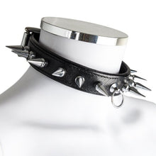KOUDOU Lair Leather Spiked O-Ring Collar