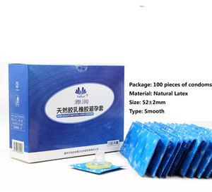 100 pcs Condoms Ultra-thin Lubricated Condoms for Men