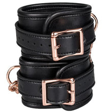 KOUDOU Beautifully Bound Black Faux Leather Wrist Cuffs